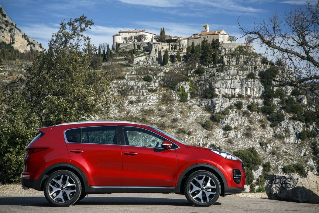 2016 cars uk-version kia sportage suv gt-line red wallpaper