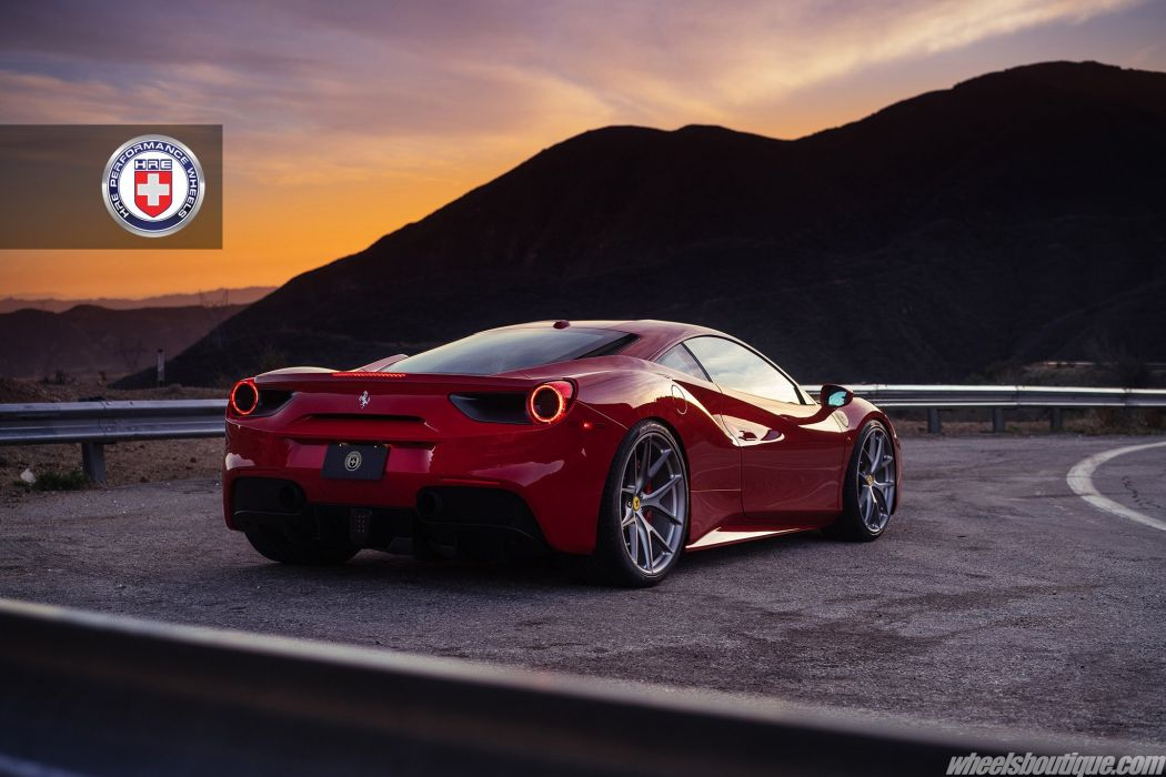 Ferrari 488 Gtb Hre Wheels Cars Red Wallpaper 2048x1365 887810