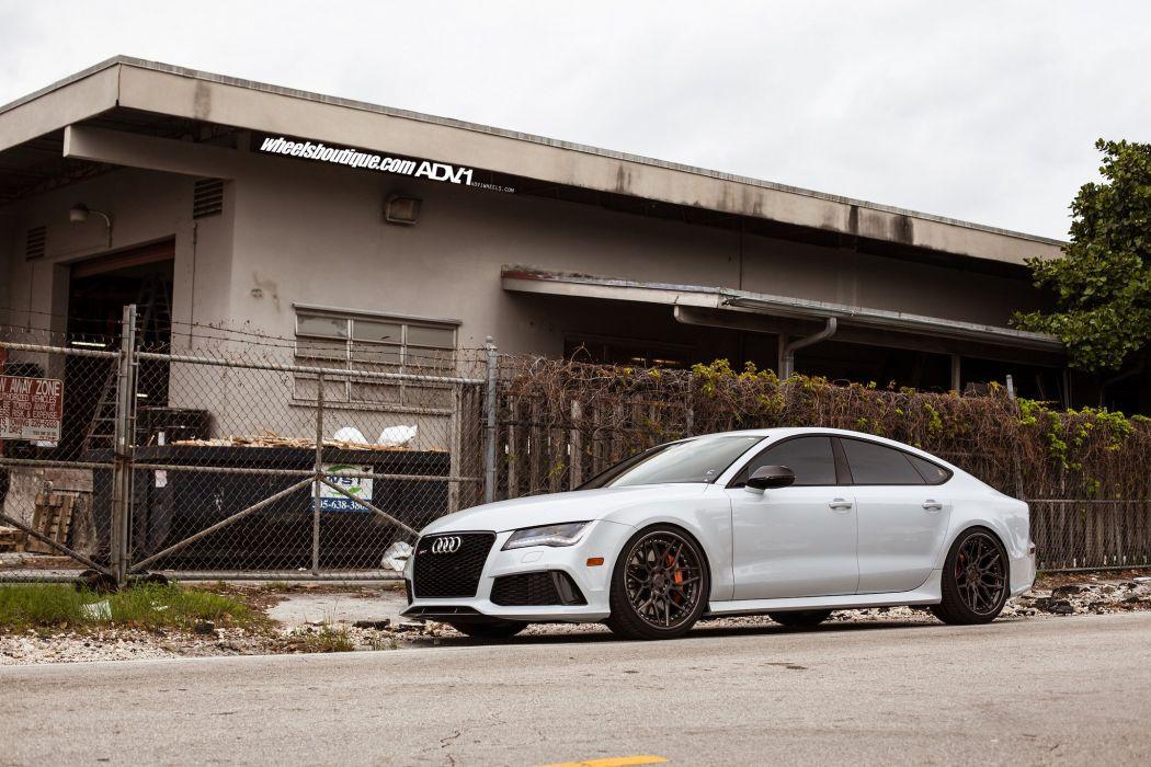 Audi RS7 adv1 wheels cars white wallpaper