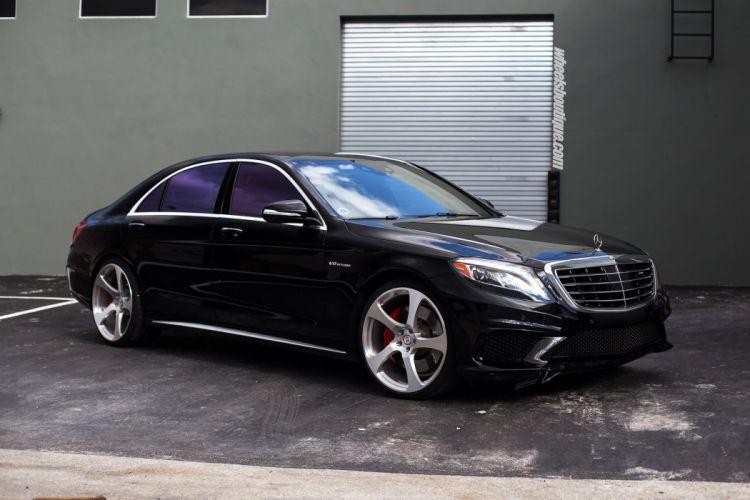 Mercedes Benz S63 HRE wheels cars BLACK wallpaper