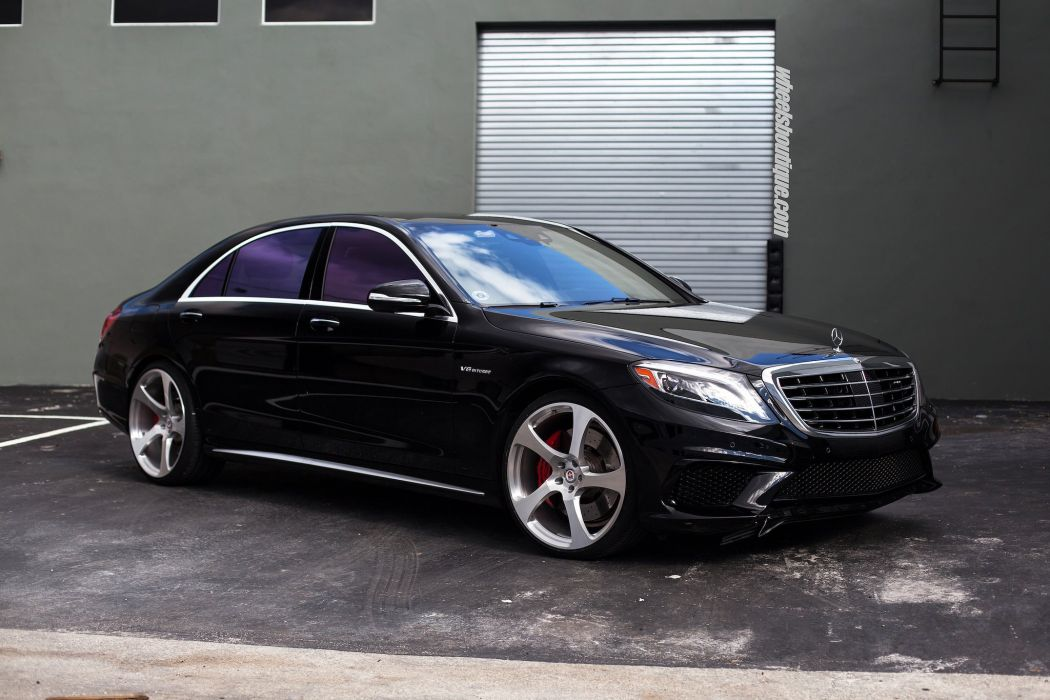 Mercedes Benz S63 HRE wheels cars BLACK wallpaper