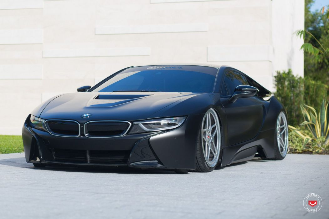 Bmw I8 Vossen Wheels Cars Black Electric Wallpaper 1600x1066