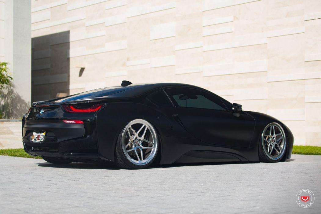 BMW i8 VOSSEN wheels cars BLACK ELECTRIC wallpaper