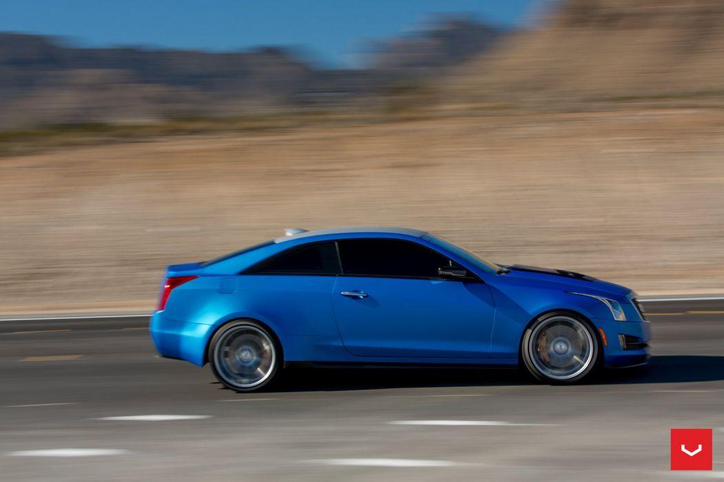 Cadillac ATS VOSSEN wheels cars blue wallpaper