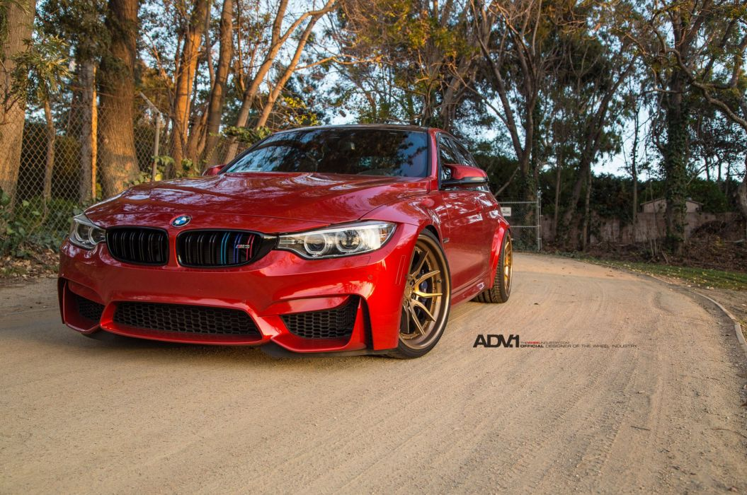 BMW M3 adv1 wheels cars red sedan wallpaper
