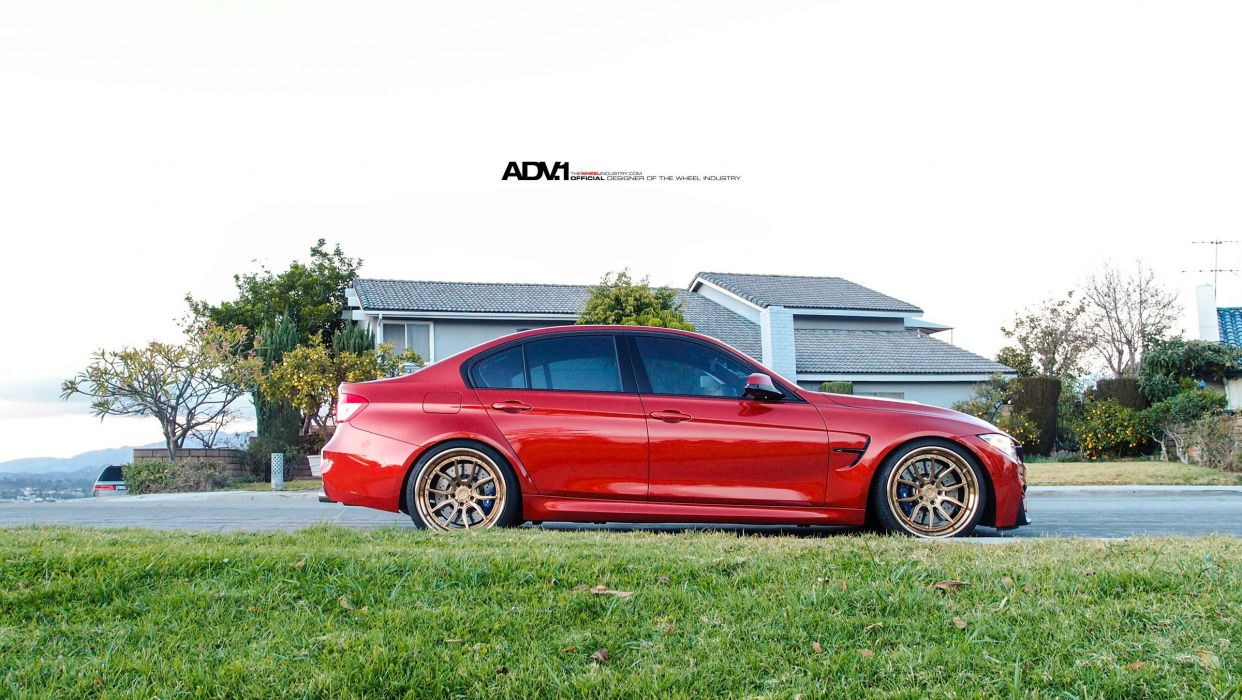 BMW M3 adv1 wheels cars red sedan wallpaper