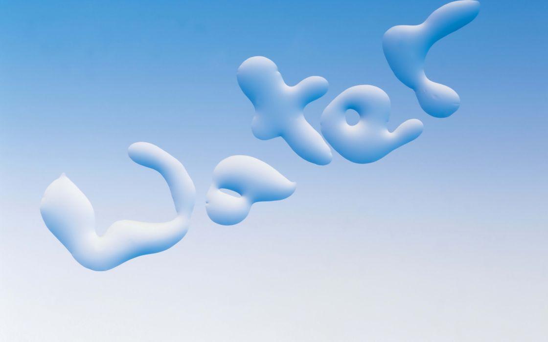 abstracto texto water azul wallpaper