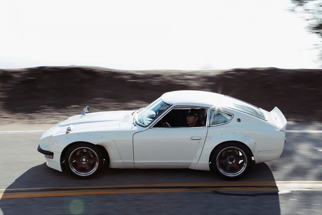 Datsun 240Z cars coupe modified white wallpaper