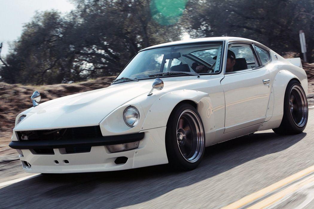 Datsun 240Z cars coupe modified white wallpaper