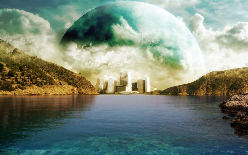 abstracto sci-fi planeta aloenigena wallpaper