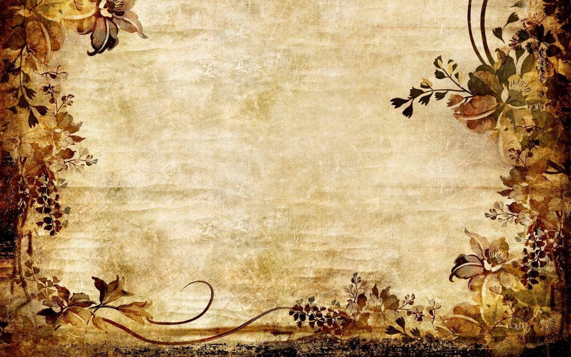 abstracto textura pergamino flores wallpaper