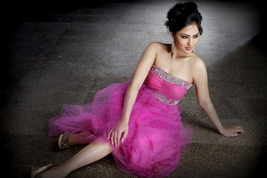 Nikesha Patel bollywood actress model girl beautiful brunette pretty cute beauty sexy hot pose face eyes hair lips smile figure indian  wallpaper