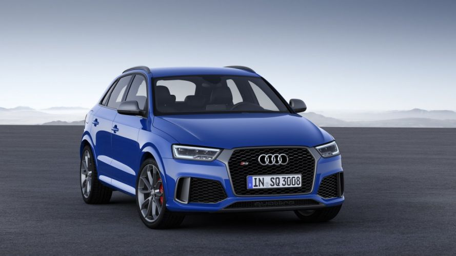 Audi RS Q3 Performance 2016 cars suv blue wallpaper