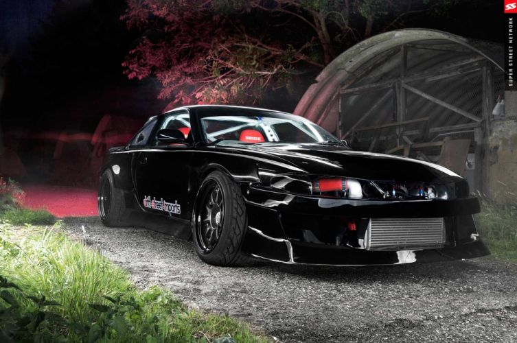 1996 nissan silvia modified rocket bunny black aero kit cars wallpaper