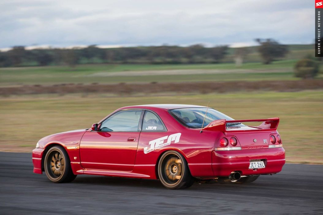 1998 nissan skyline gtr red aero kit cars modified wallpaper