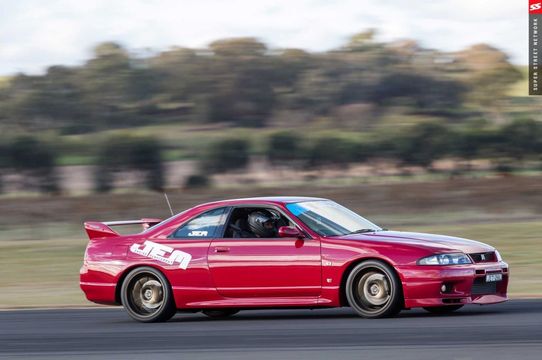 1998 nissan skyline gtr red aero kit cars modified wallpaper