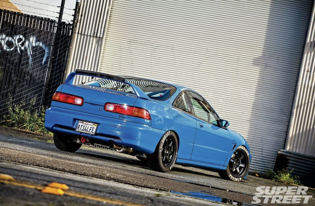 1994 acura integra cars blue modified wallpaper