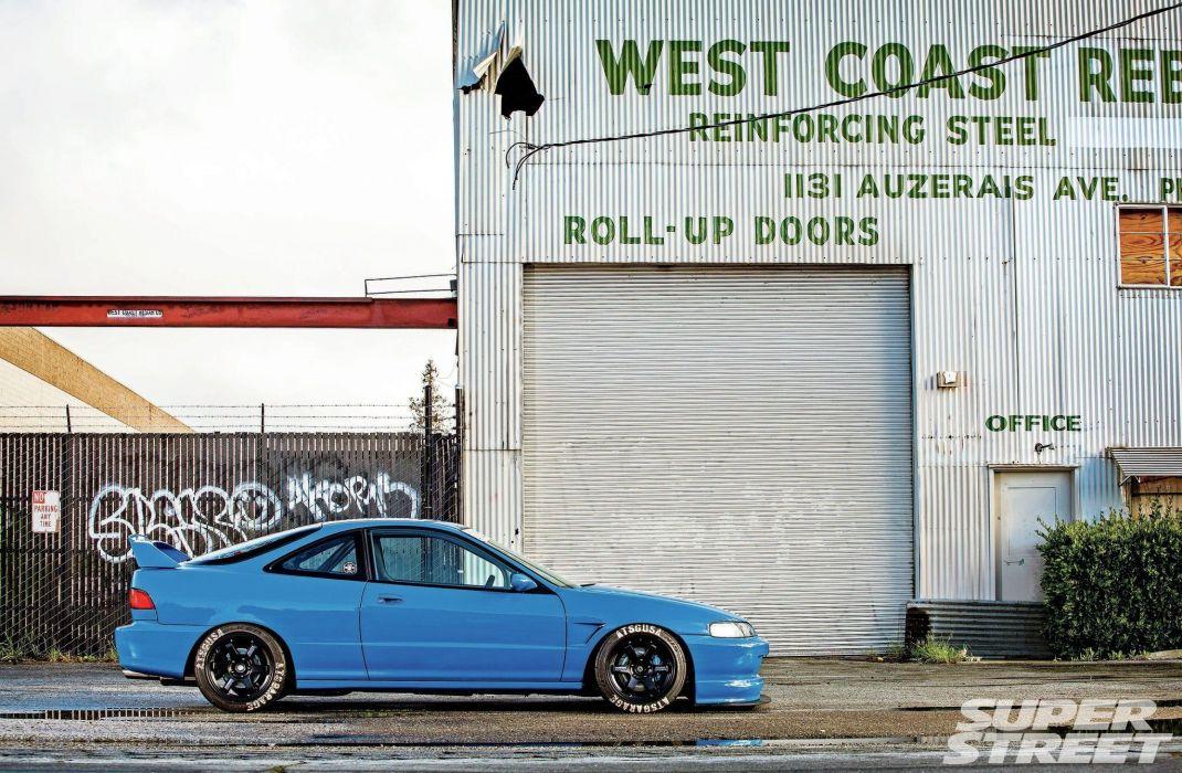 1994 acura integra cars blue modified wallpaper