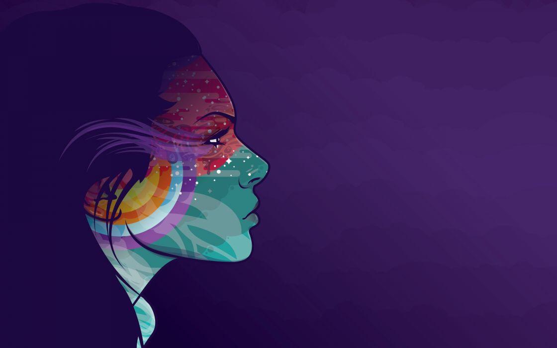 mujer abstracto colores cara wallpaper