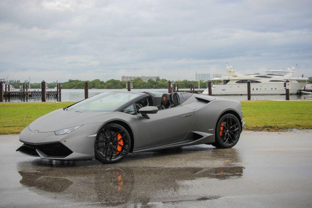 2016 Lamborghini Huracan Spyder cars wallpaper