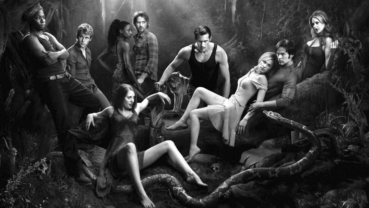 TRUE BLOOD drama fantasy mystery vampire horror hbo fantasy series poster wallpaper