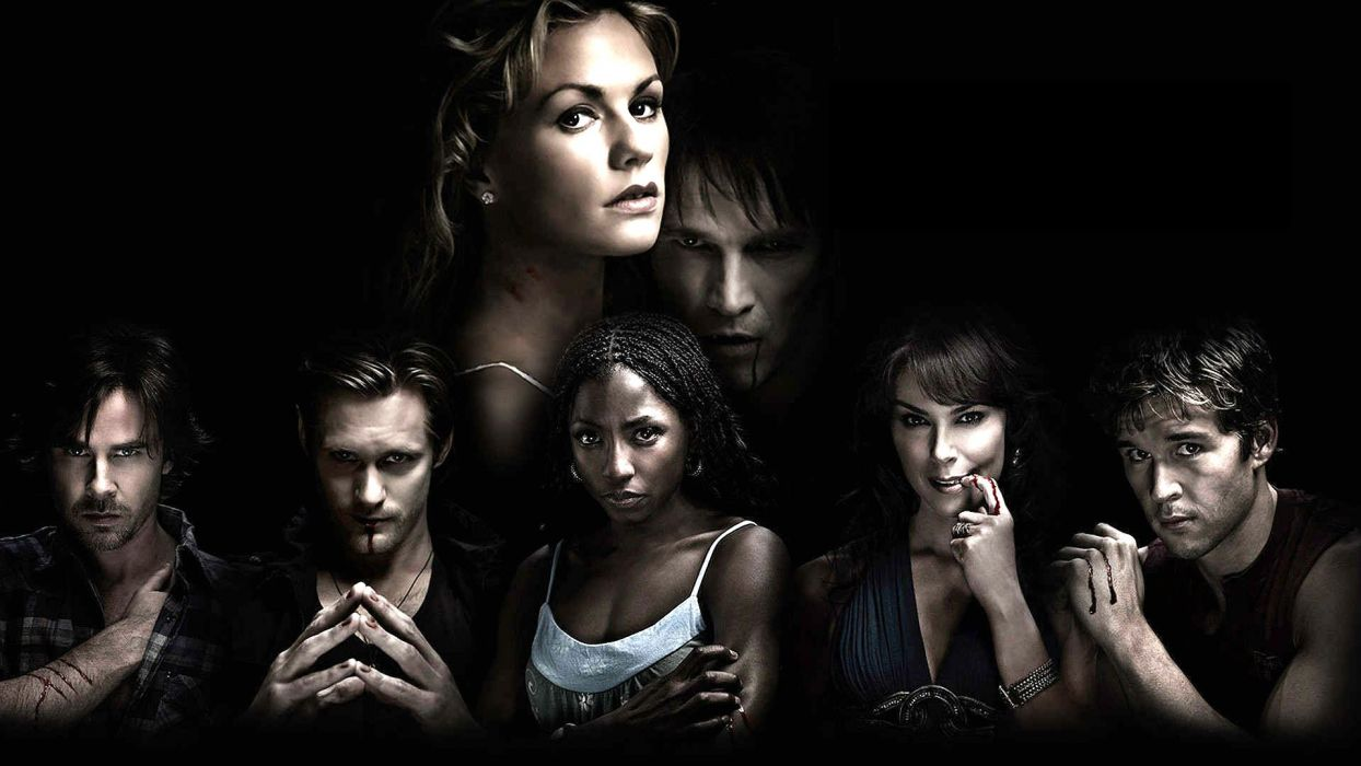 TRUE BLOOD drama fantasy mystery vampire horror hbo fantasy series poster wallpaper