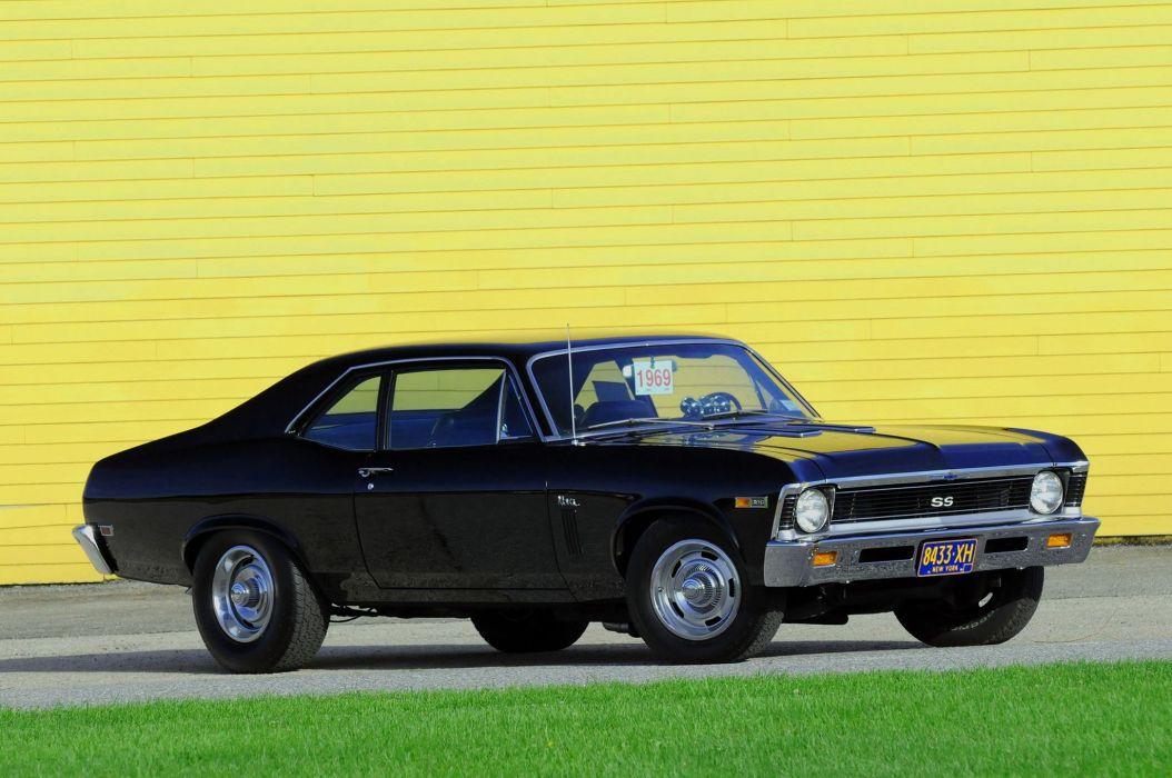 Big-Block 1969 Chevrolet Nova SS cars classic black wallpaper