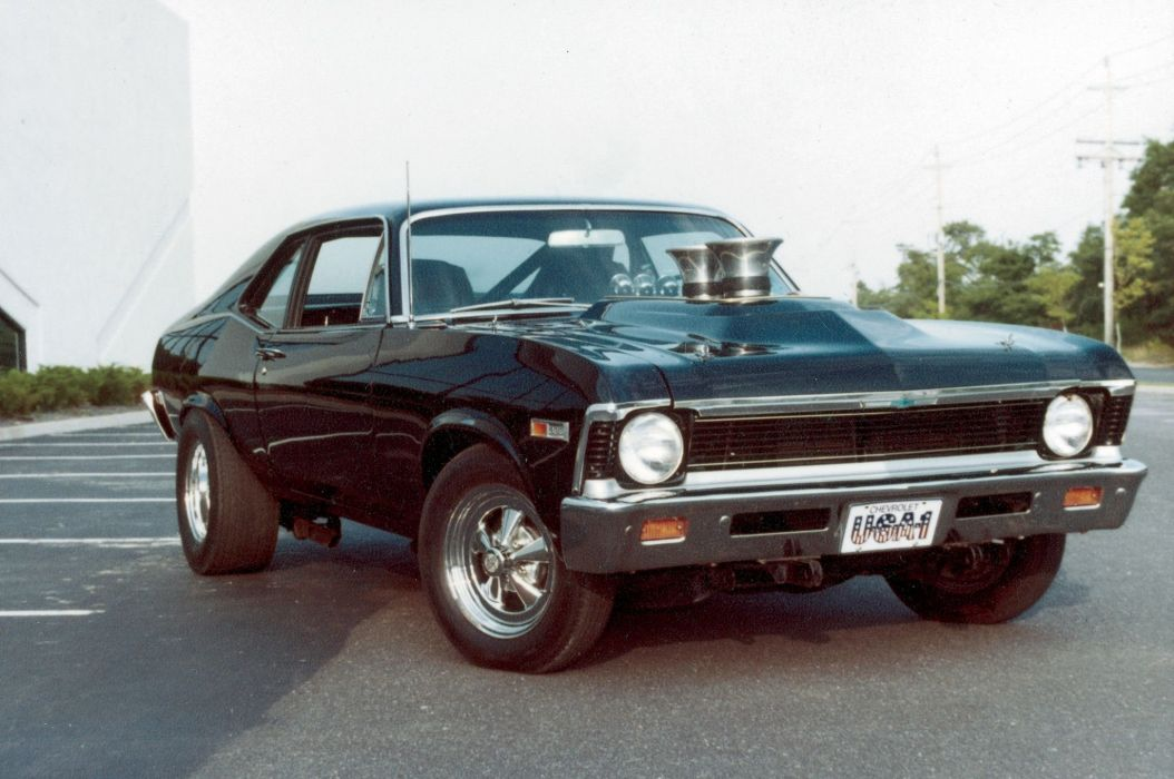 Big-Block 1969 Chevrolet Nova SS cars classic black wallpaper