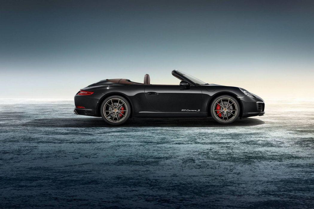Porsche Exclusive 911 Carrera S Cabriolet cars black wallpaper