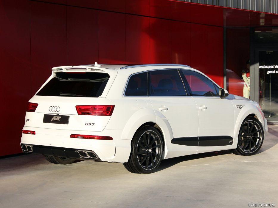 ABT Audi QS7 cars modified white wallpaper
