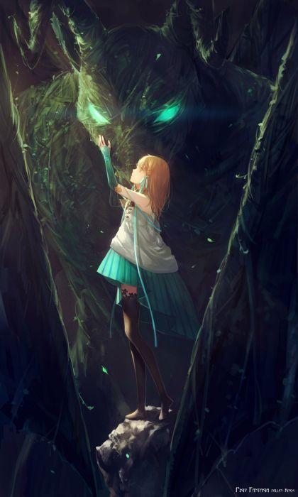 anime girl pretty beautiful long hair dress wallpaper