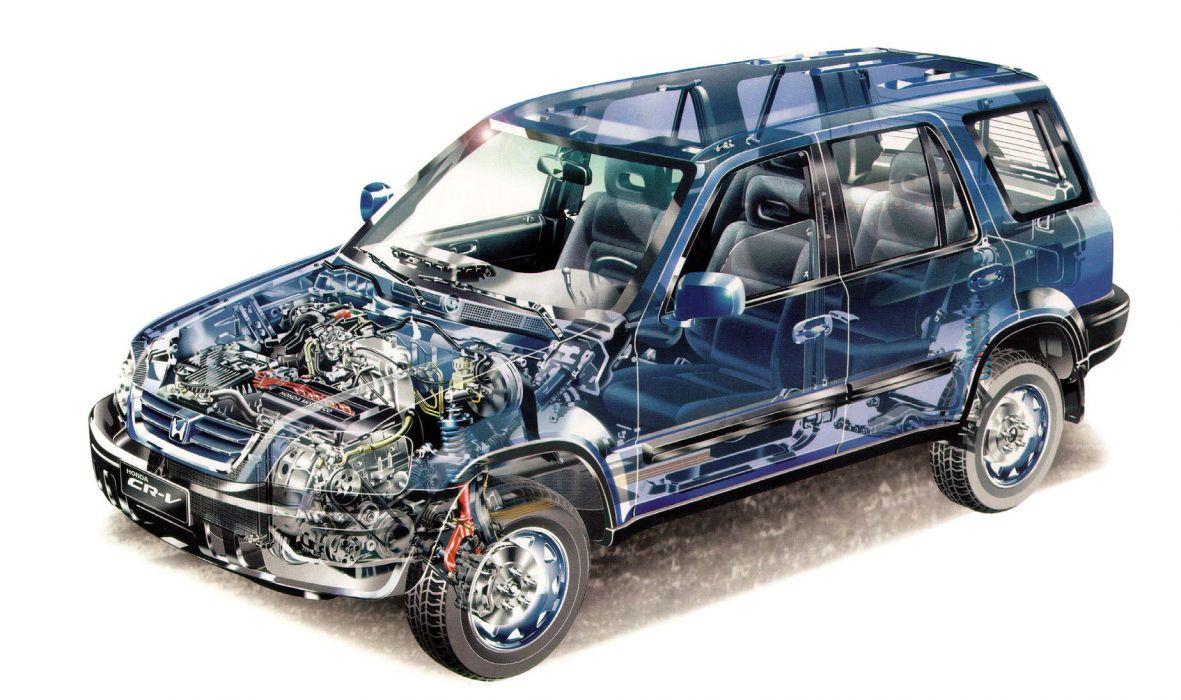 Honda CR-V (RD1) cars suv cutaway 1996 wallpaper