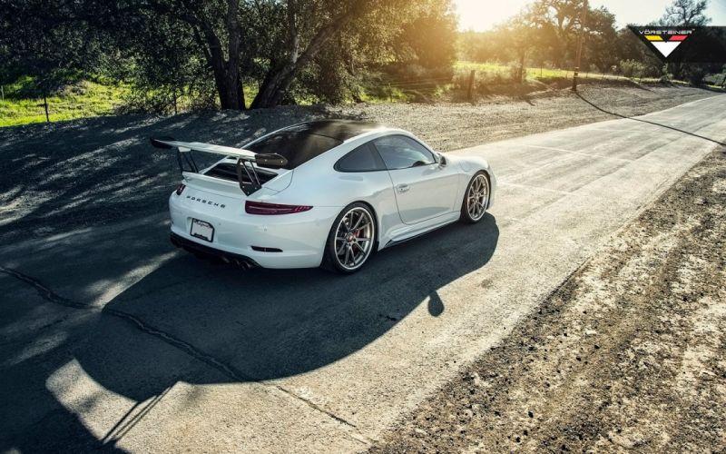 2016 Vorsteiner Porsche 991 V-GTX Aero kit cars modified white wallpaper