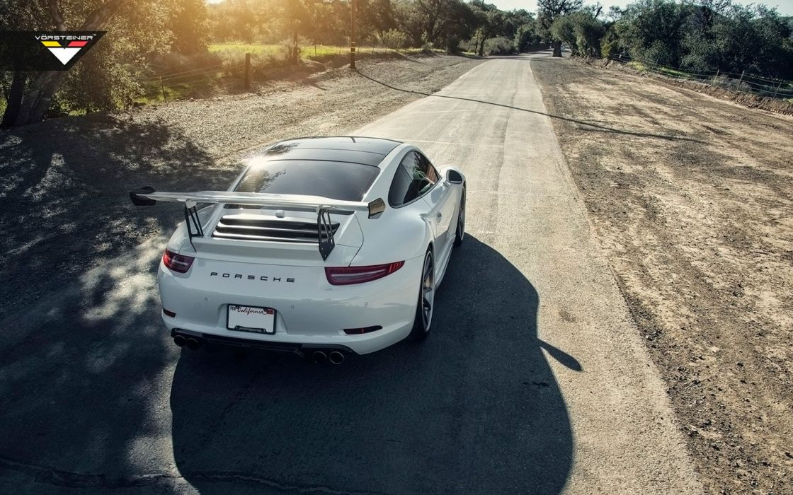 2016 Vorsteiner Porsche 991 V-GTX Aero kit cars modified white wallpaper