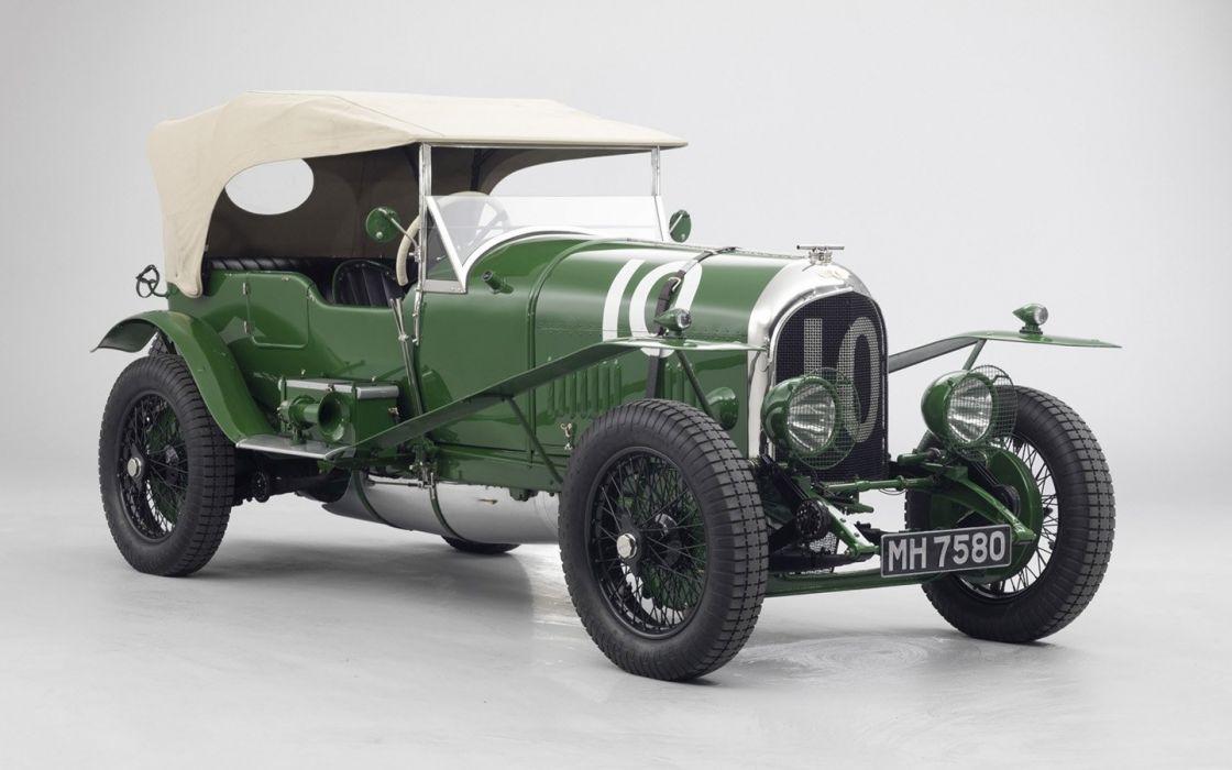 1925 Bentley 3 Litre MH 7580 cars classic green wallpaper