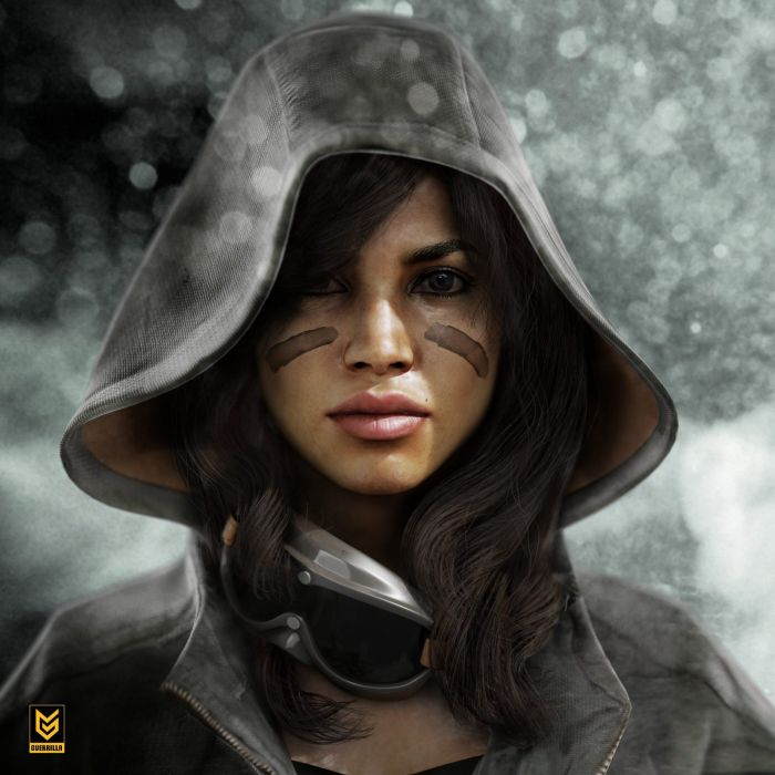 fantasy girl woman beautiful face warrior wallpaper