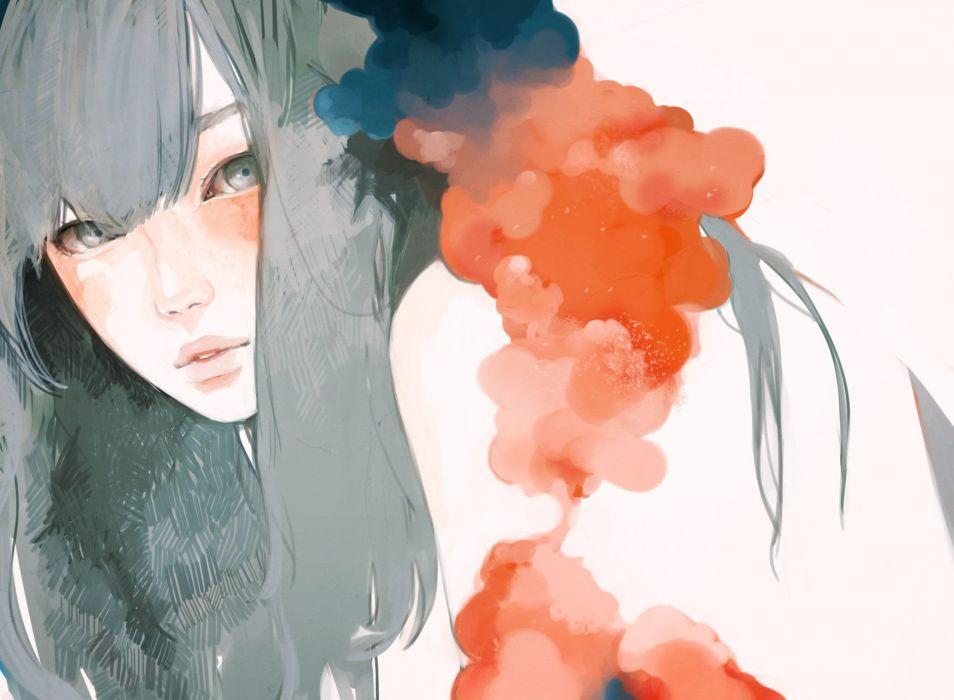 paintig beauty girl wallpaper