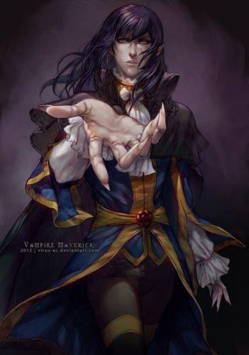 vampire anime fantasy male long hair wallpaper