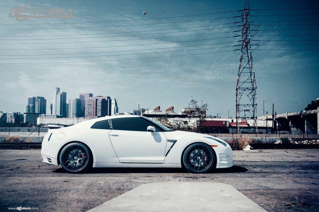 nissan r35 gtr cars godzilla white wallpaper