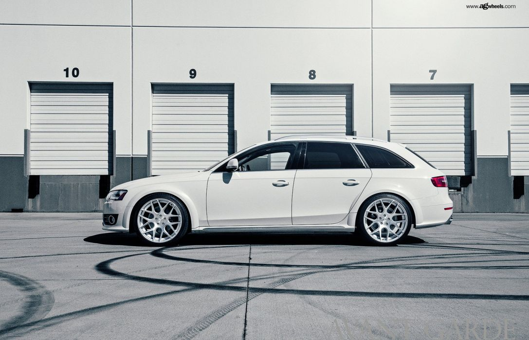 audi allroad wagon cars white wallpaper