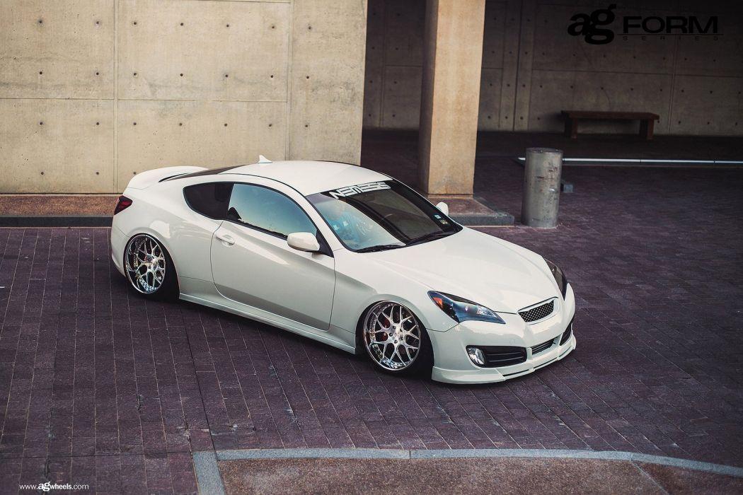 hyundai genesis coupe cars white wallpaper