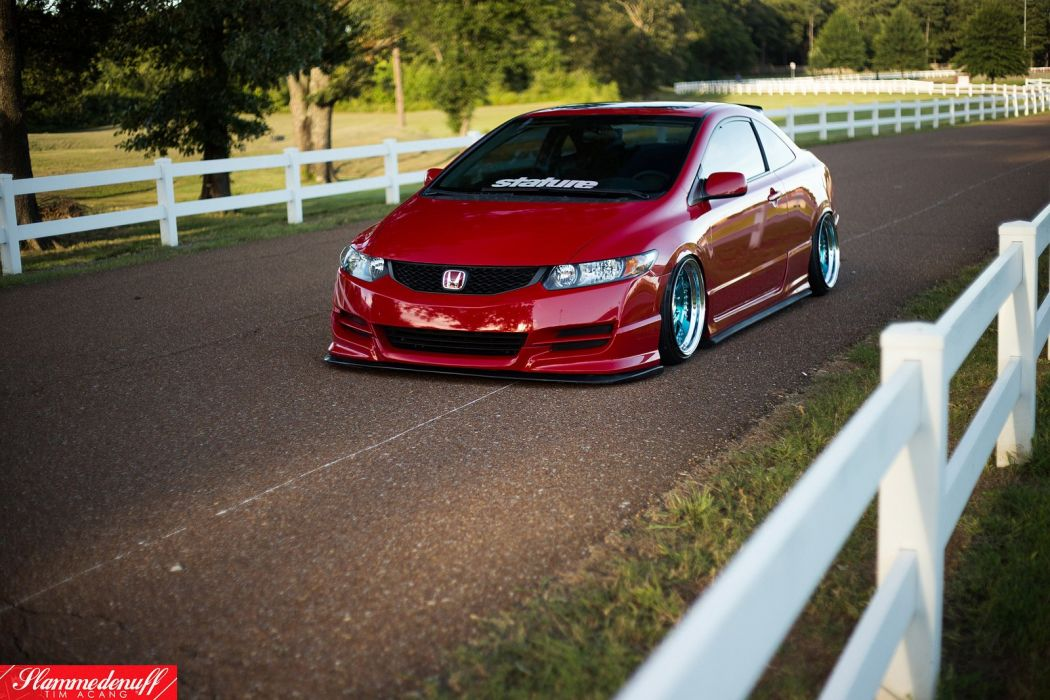 honda civic coupe cars red wallpaper