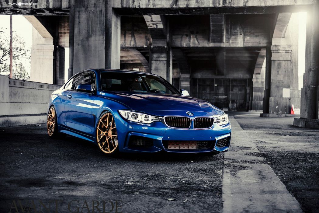 bmw f32 435i cars blue wallpaper