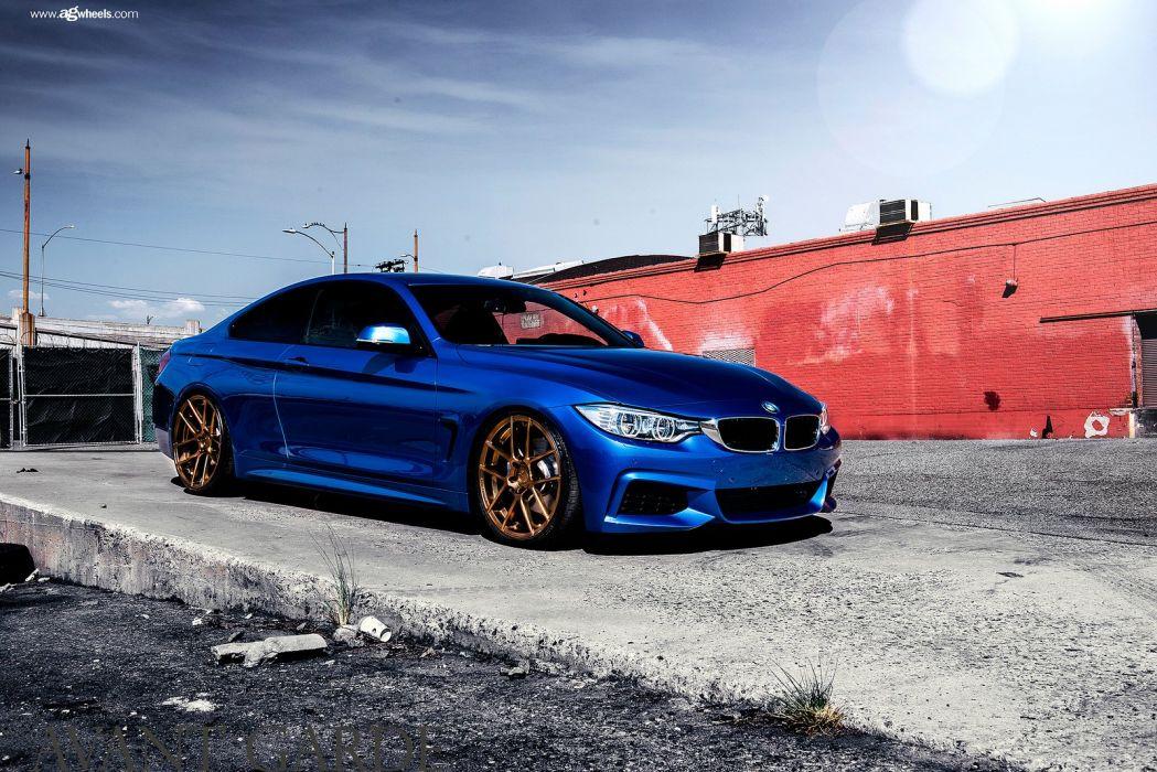 bmw f32 435i cars blue wallpaper