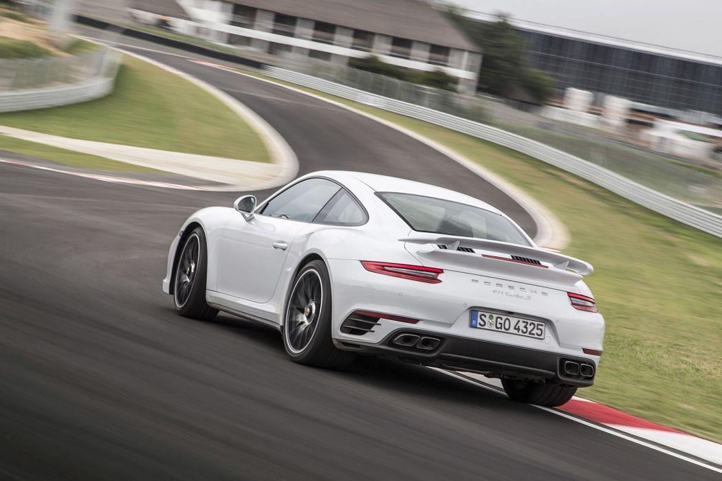 2016 Porsche 911 Turbo cars coupe white wallpaper