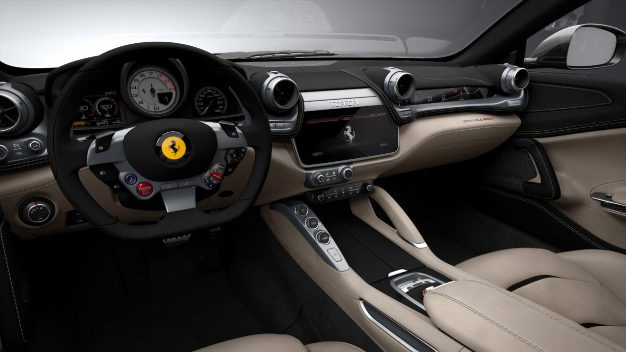 2016 The Ferrari GTC4 Lusso cars 2+2 wallpaper