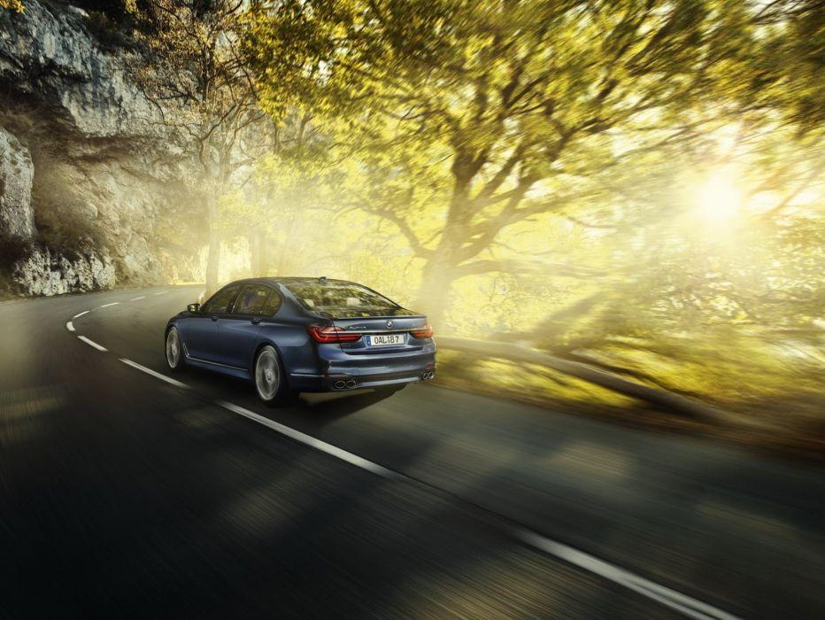 BMW Alpina B7 xDrive cars sedan blue modified wallpaper
