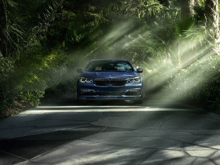 BMW Alpina B7 xDrive cars sedan blue modified wallpaper