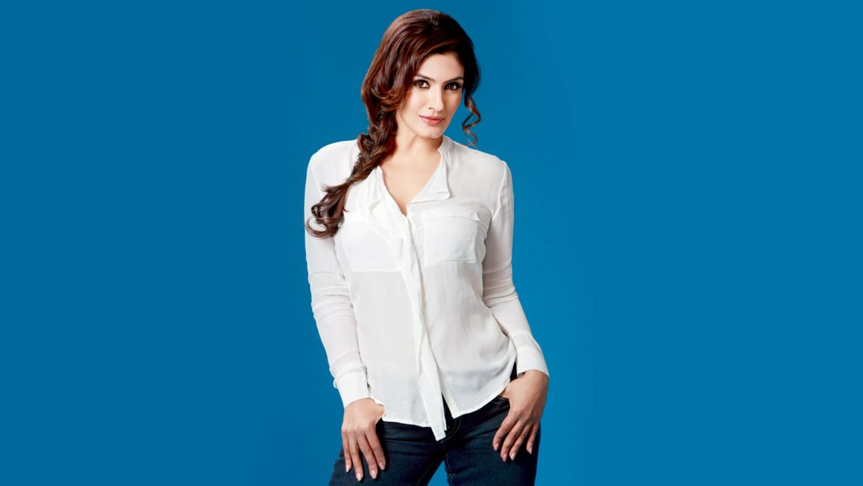 raveena tandon bollywood actress model girl beautiful brunette pretty cute beauty sexy hot pose face eyes hair lips smile figure indian  wallpaper