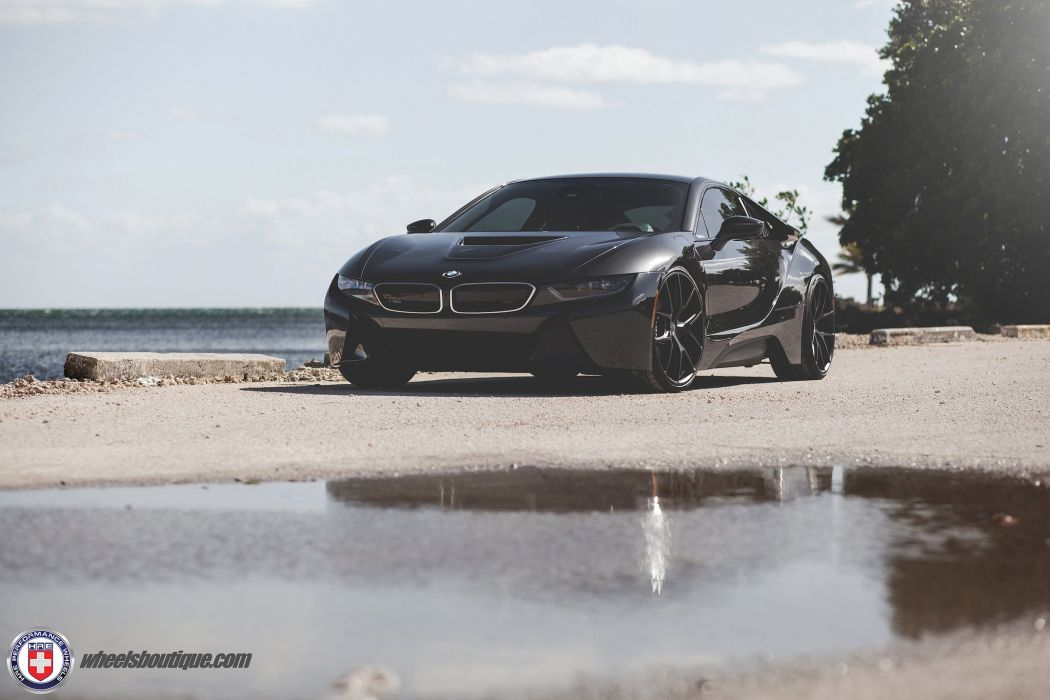 BMW i8 HRE wheels cars black electric wallpaper